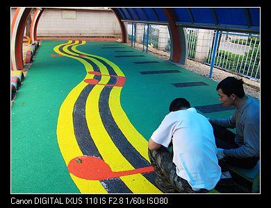 幼儿园建筑区角墙面布置图片汽车跑道