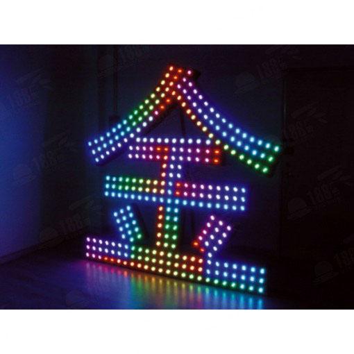 佛山发光字 炫彩发光字 全彩闪动发光字 彩色穿孔发光字 LED发光字