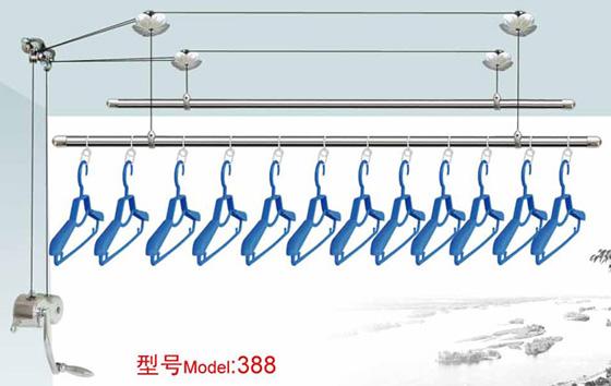 上海晾衣架维修,上海晾衣架更换钢丝绳,维修阳台手摇式升降晾衣架
