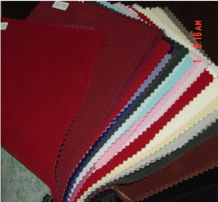 供带胶红色绒布条