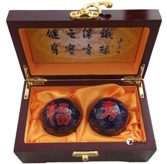 供应保定铁球景泰蓝保健球 45mm福如东海寿比南山 老年健身球 王铁匠