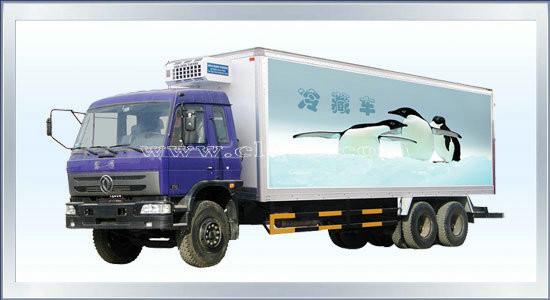 构造:冷藏车由专用汽车底盘的行走部分,与隔热保温厢体(一般由