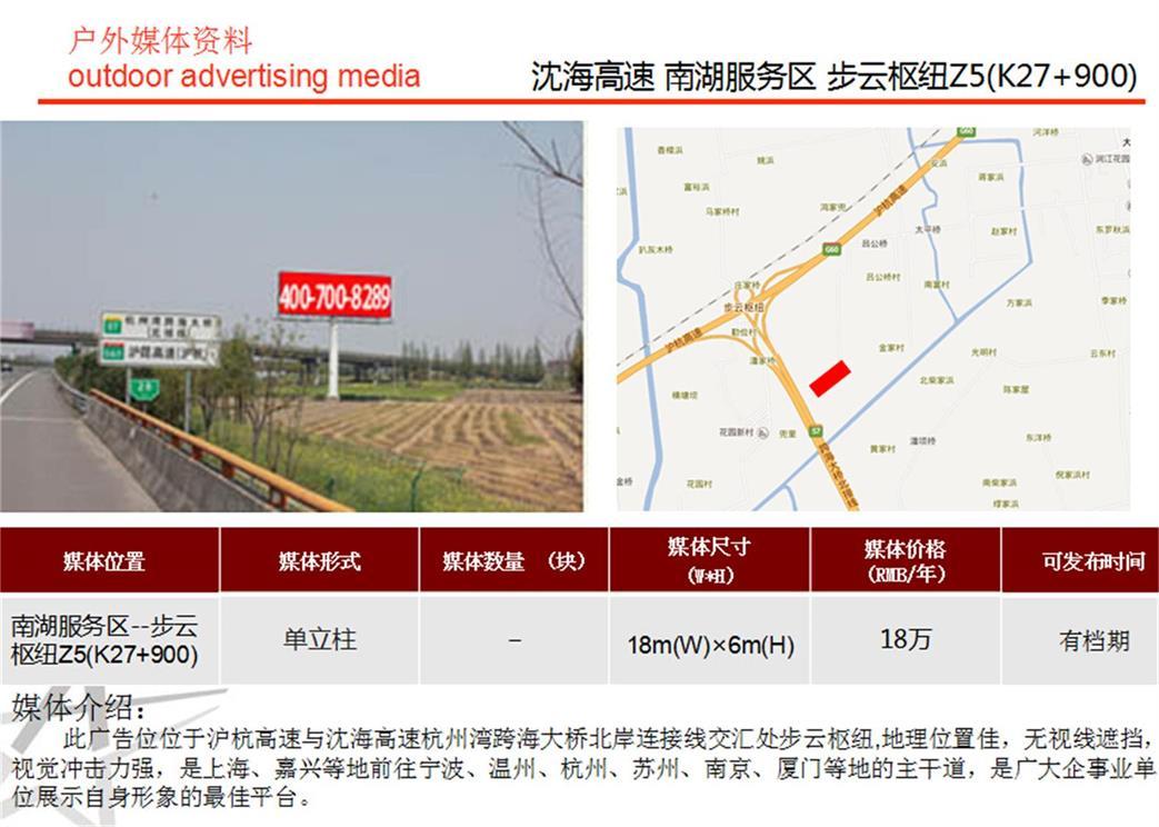 供应沈海高速杭州湾跨海大桥北接线广告牌