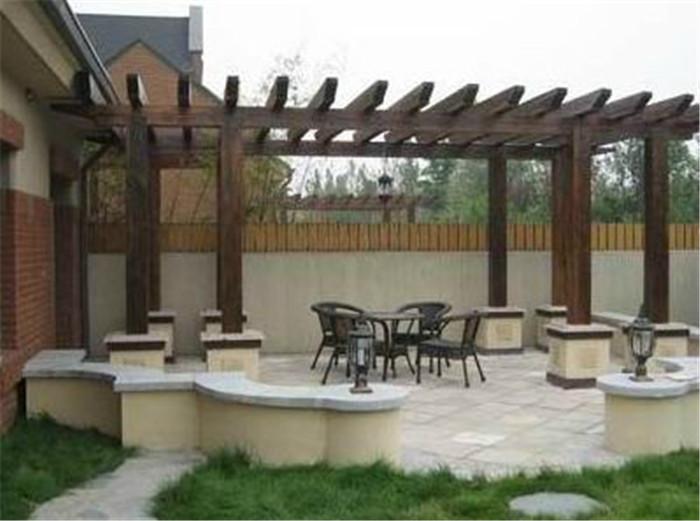 北京庭院设计 别墅景观设计 别墅花园设计 屋顶花园设计 凉亭 花架