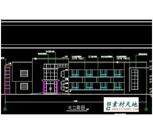 供应876平米二层厂办公楼房屋设计平面结构施工图