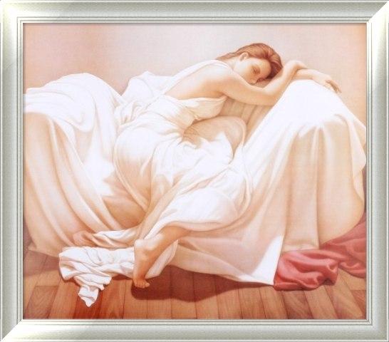 睡美人欧式定制油画 别墅卧室装饰画