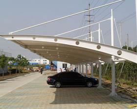 供应钢结构车棚 汽车棚 自行车停车棚 厂家设计制作图片
