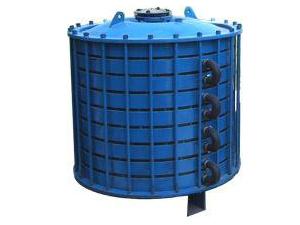 供应电加热反应釜 蒸馏罐 塔节 碟片式冷凝器搪玻璃设备
