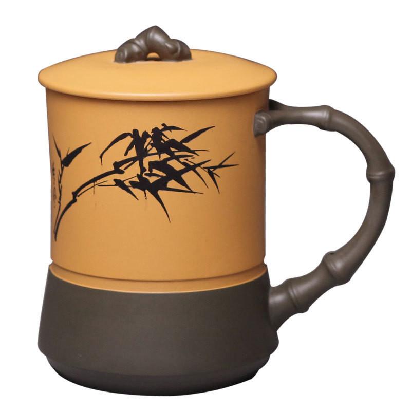 茶杯绘画花纹图片