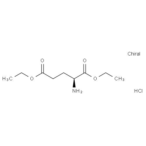 l-谷氨酸二乙酯盐酸盐分子式: c9h18clno4; c2h5ococh2ch2ch(nh2)coo图片
