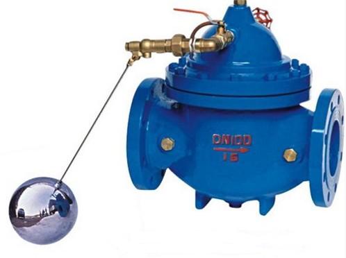 控制室,球阀,浮球阀进入水池,此时控制室不形成压力,主阀开启,水塔