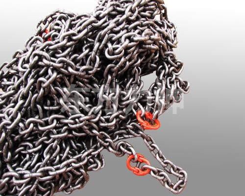 起重索具圆形成套索具链条-江苏东方力神v索具自锁航空链条连接器图片