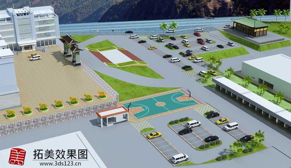 邯郸承接室外建筑效果图制作园林绿化厂房规划道路桥梁工程效果图
