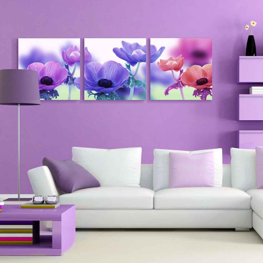 紫色沙发客厅装修图