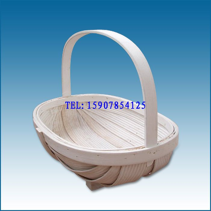 供应#zakka 船型水杉木片篮子|手工编织木篮 果篮 礼品包装篮