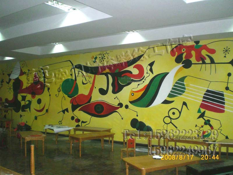 围墙墙体喷画,娱乐场所墙体手绘,家庭背景墙手绘壁画,广场寺庙墙体图片