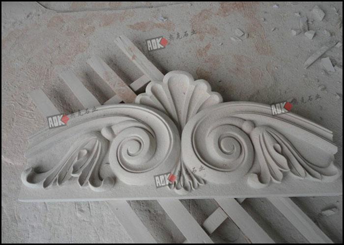 供应外墙装饰石材浮雕 线条 雕花 罗马柱 拱门 栏杆 花钵 窗套挂饰