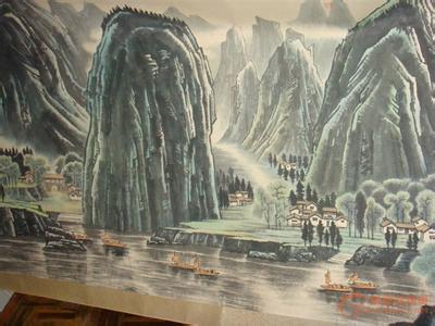 近代名家画韶山风景画