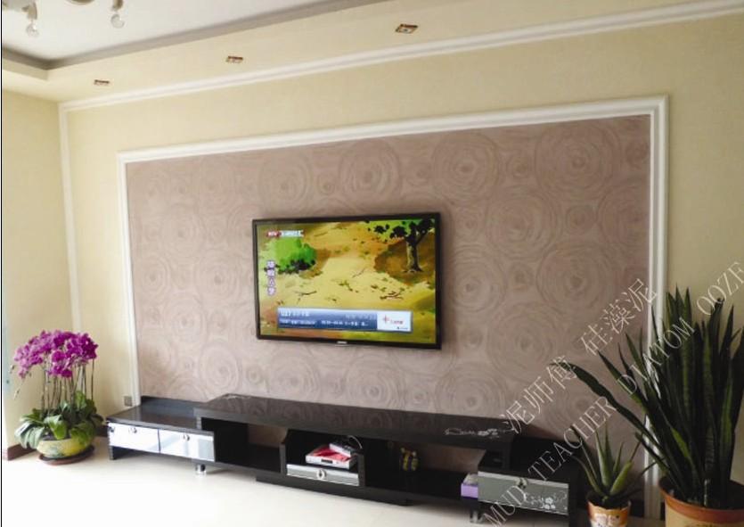 西安硅藻泥背景墙|西安电视背景墙|西安泥师傅硅藻泥厂家专业供应