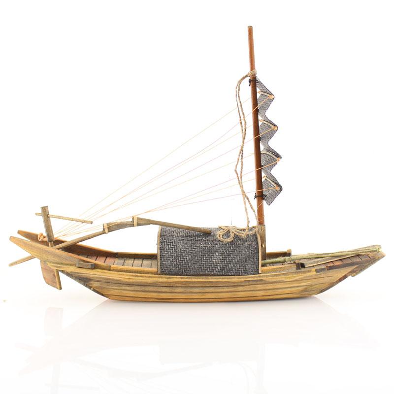 纯手工实木木船