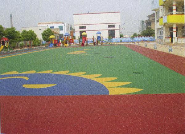 供应江苏幼儿园塑胶跑道 橡胶安全地垫