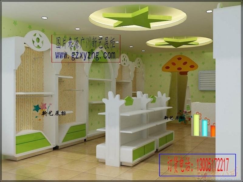 供应 童装店面设计效果,婴童店装修效果图