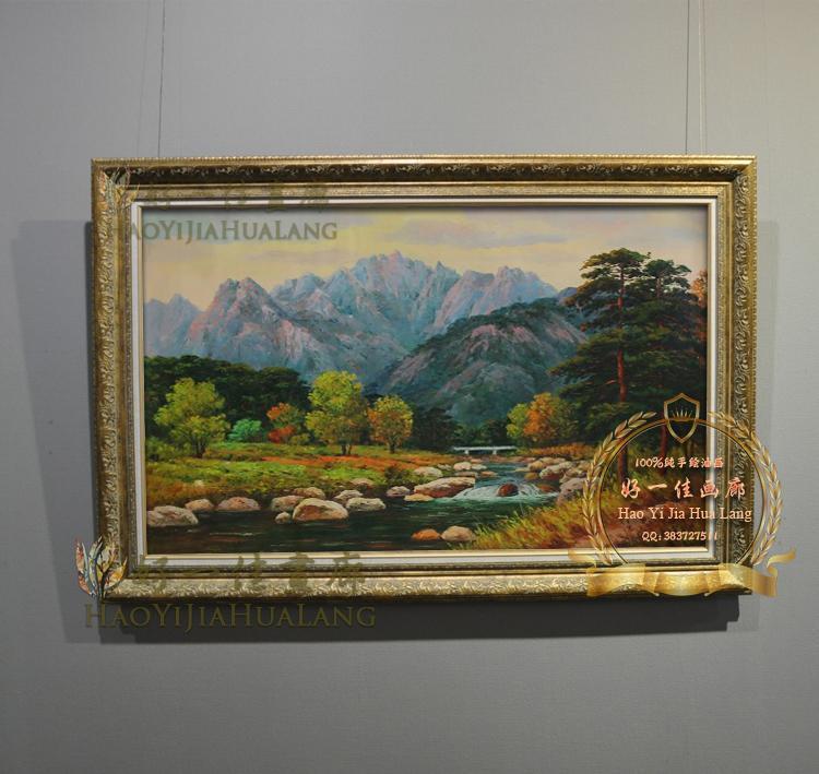 欧式古典山水风景 纯手绘油画