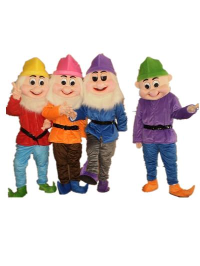 七个小矮人卡通人偶服装