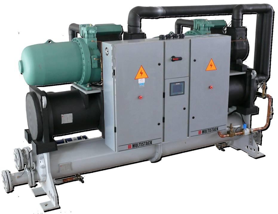 multistackscwd系列水冷冷水机组,采用半封闭螺杆