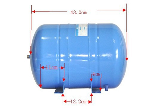 品牌:TS/陶氏 产品名称:6G压力桶 产品详情: 深圳陶氏专业的压力桶生产厂家,生产各种型号压力桶。 铸铁压力桶,又名储水桶,储水罐。有3.2G压力桶,6G压力桶,11G压力桶,20G压力桶,28G压力桶,保修十八个月. 纯水机过滤桶储存纯水,防止纯水污染。不锈钢水嘴,不会折断,滑丝;高强度材质,每个产品出厂都经过1MP耐压试验,*高试压2MP不爆裂;每个涉水零件都使用食品级的材料,专为RO系统设计。 新一代改良型隔膜;正放或侧放均可正常 压力桶广泛应用于水处理设备上,我司提供超长保值期---18个月!