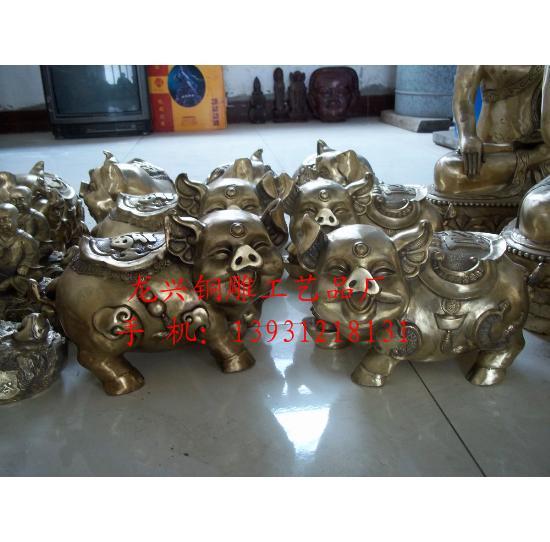 动物铜像-唐县龙兴铜雕工艺品厂