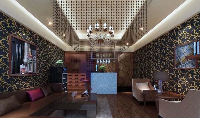 四,房间的家具:  ktv装修效果图的家具通常是由沙发,茶几