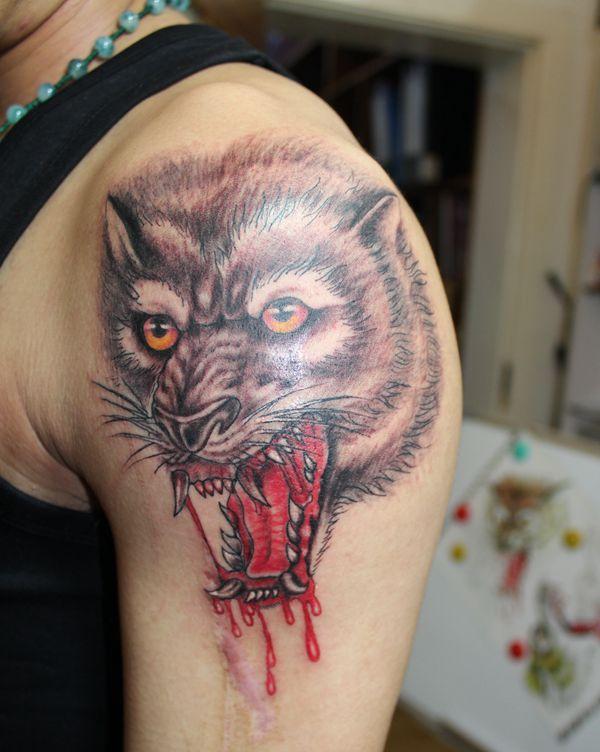 3d纹身|黑灰立体纹身|杭州纹身【大唐纹身】