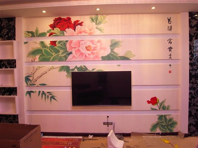 供应手绘电视墙,幼儿园墙绘