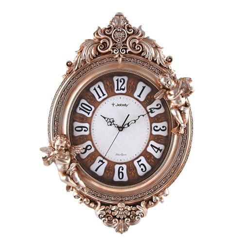 供应jb803-a树脂工艺钟欧式皇家风格家居装饰挂钟