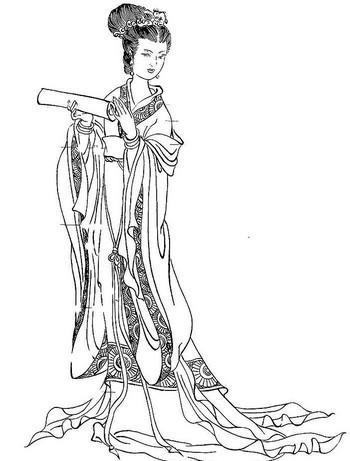 中国古代有许多白描大师; 白描人物画; 素描卡通人物画