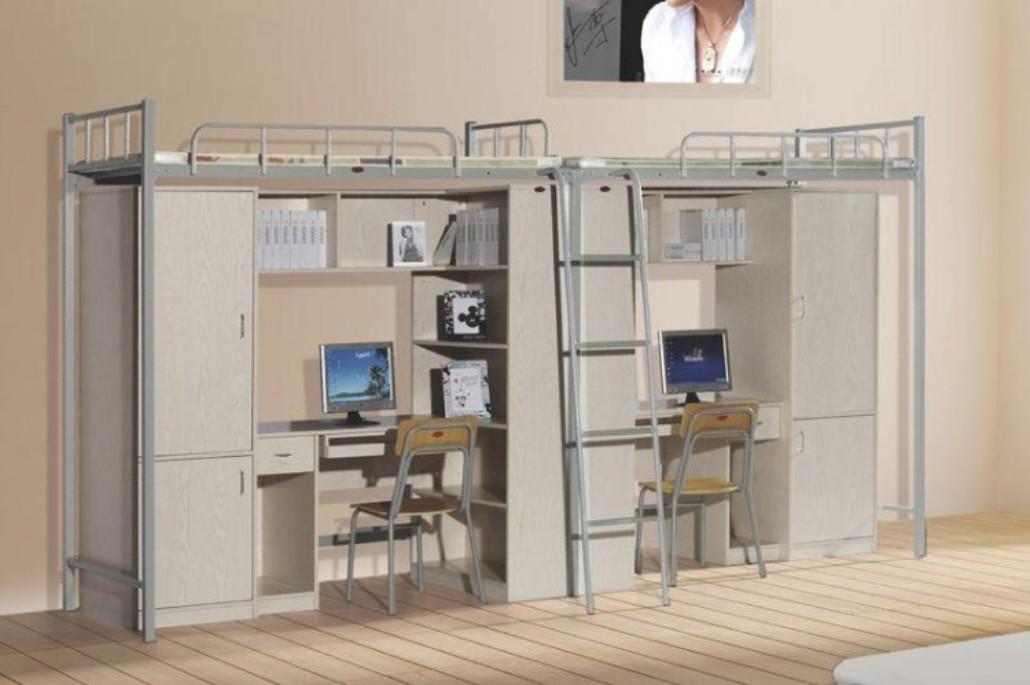 供应双人公寓床 组合双人公寓床 大学生公寓床 公寓床图片