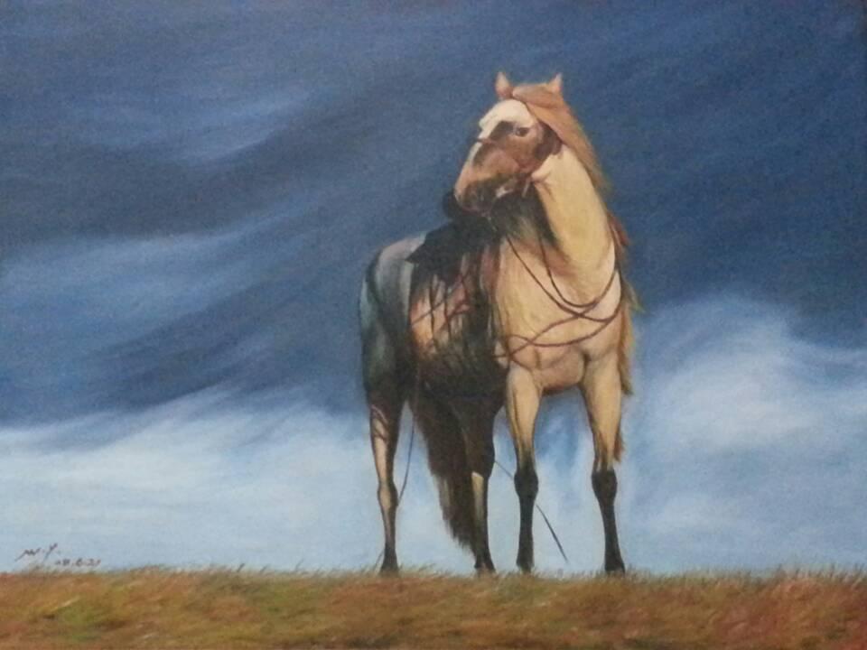 著名油画家王一的油画作品
