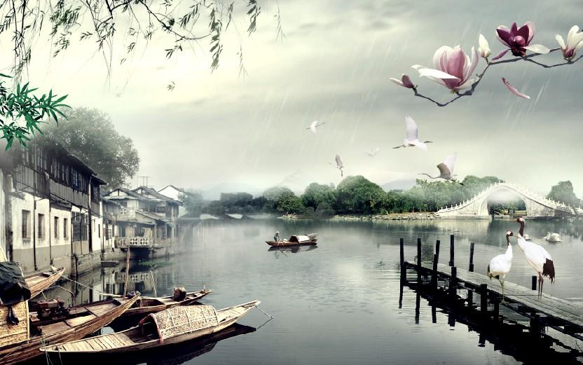 山水画,油画,风景画,欧洲古典建筑画,欧美风情海景画,中国国粹水墨画