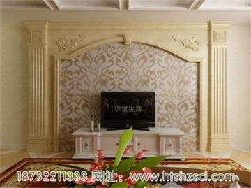 木材欧式电视机背景