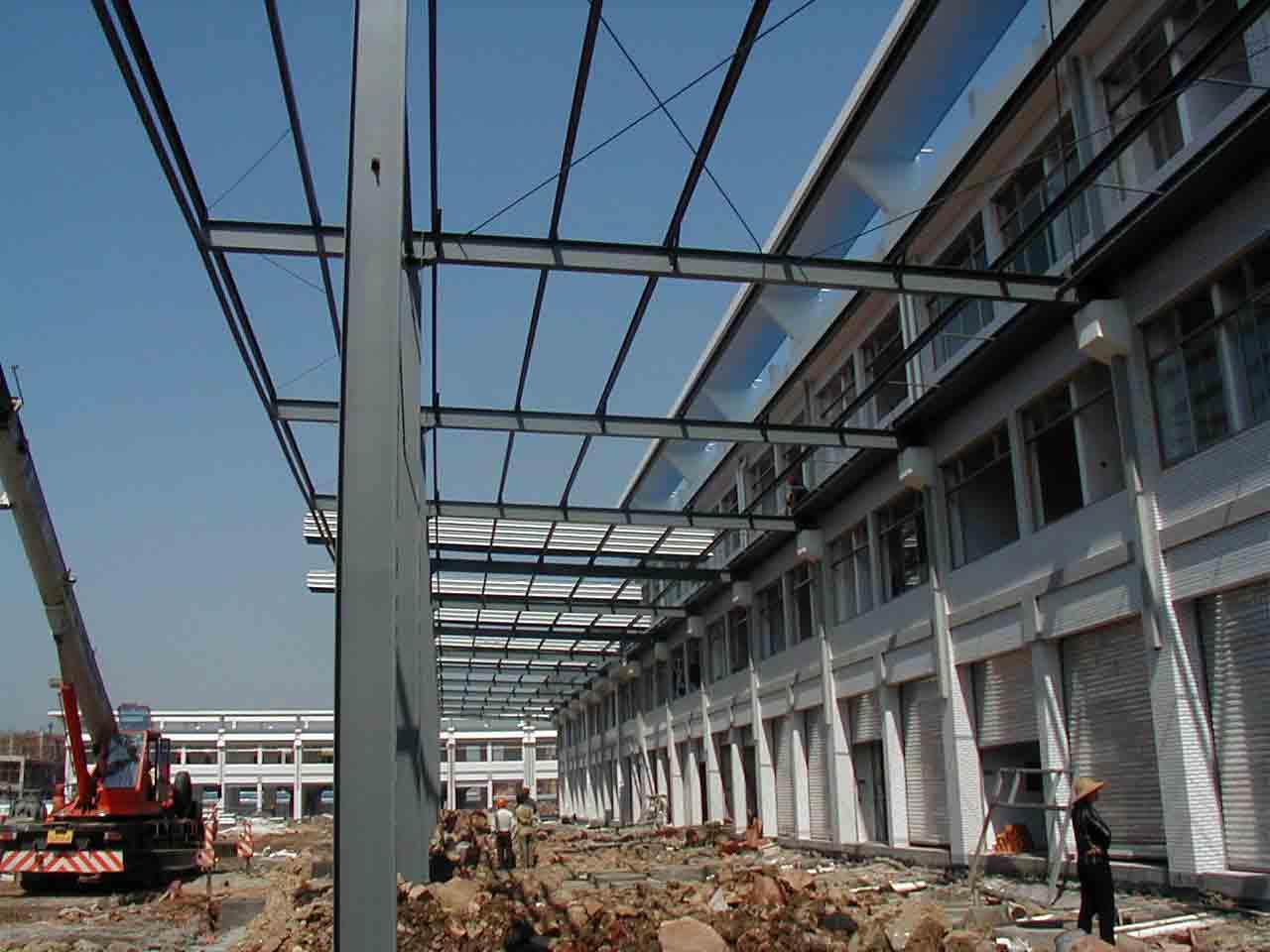 绍兴三雄 制作安装钢结构厂房 网架结构 网架工程