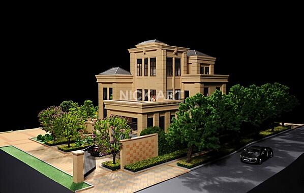 奉化建筑模型制作外墙的真石漆或石材