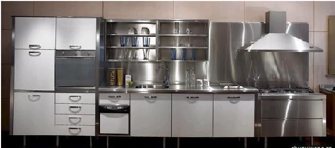 不锈钢整体厨房-淄博健生橱柜有限公司图片