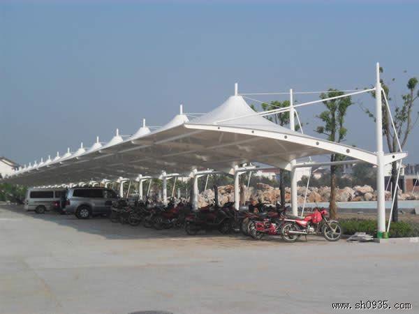 供应河南膜结构车棚 郑州自行车棚雨棚 周口停车棚雨棚