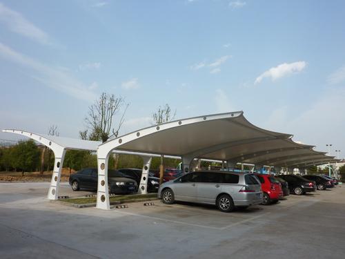 供应信阳自行车棚,电动车棚,钢结构张拉膜车棚