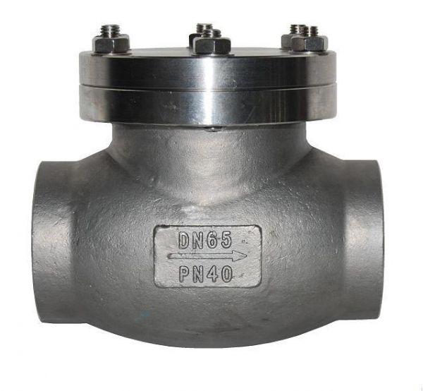 环保  主要外形及连接尺寸  公称通径  dn(mm) dh61f-40p 低温止回阀图片