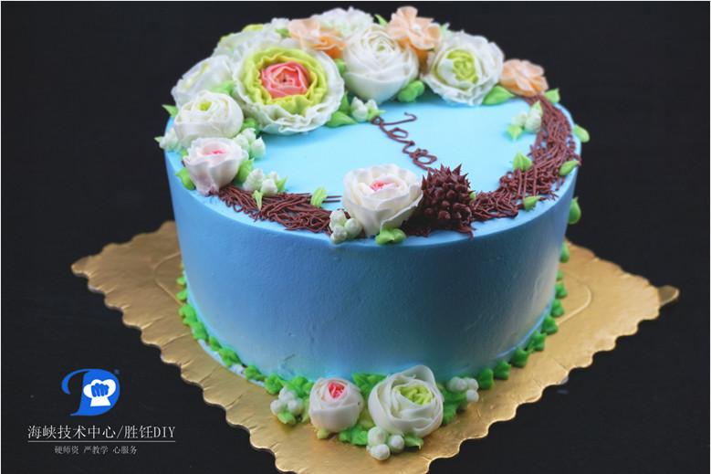 蛋糕裱花怎么做,厦门专业蛋糕裱花培训,海峡技术中心