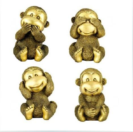 铜雕工艺品 供应铜雕四不猴 铜雕分类