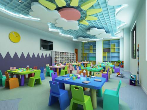 綦江幼儿园装修,早教培训学校设计,幼儿园教室设计