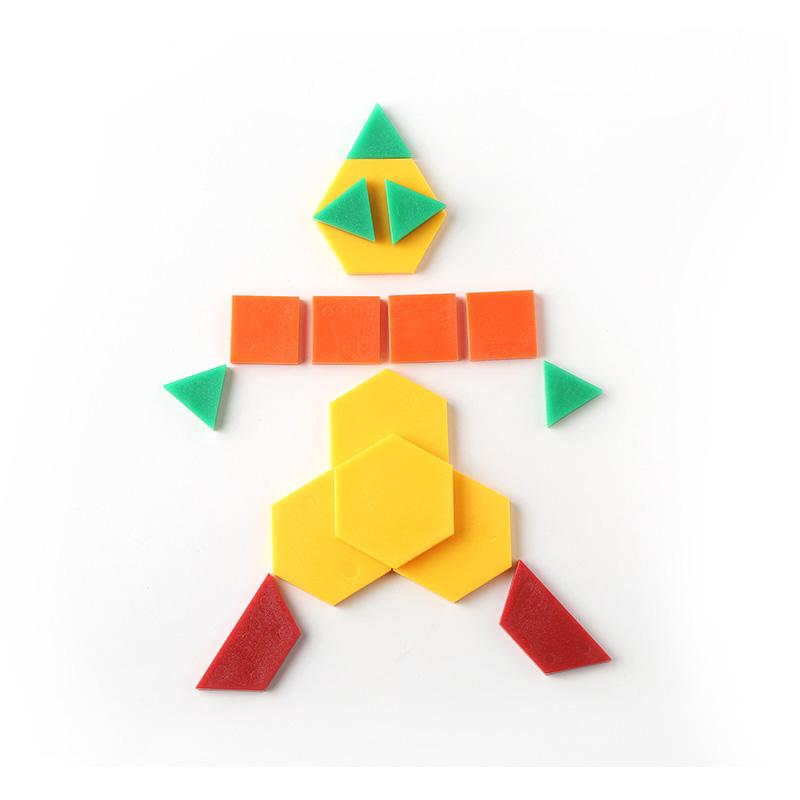 供应 未来玩具先生 儿童益智拼图塑料积木几何图形